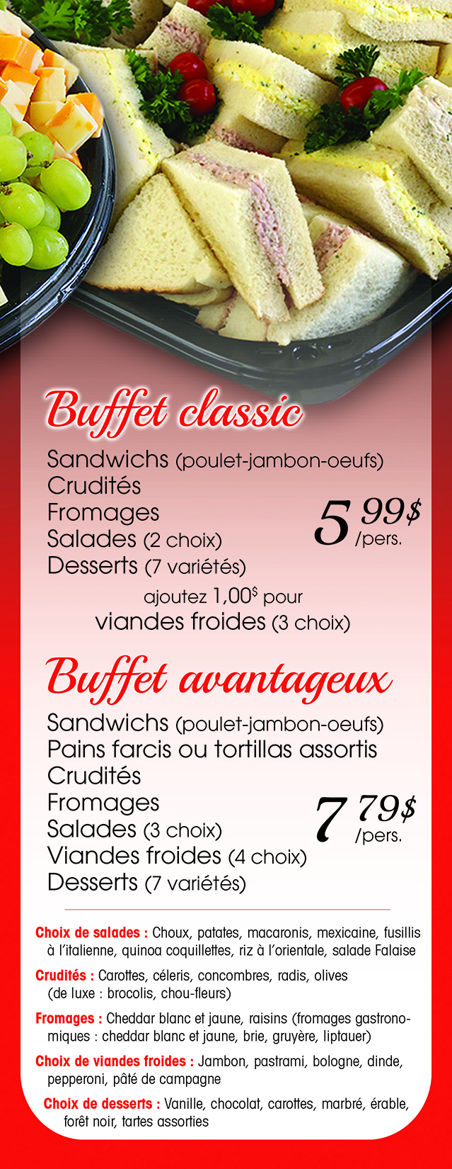 Menu Buffet copie